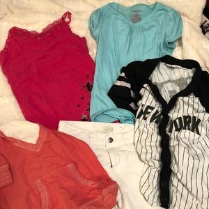 Other - Girls tops and capris Bundle